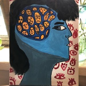 """""""Inner voices"""" Hand painted Acrylic painting"""